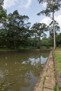 Murky pool at Royal Palace in Siem Reap, Cambodia