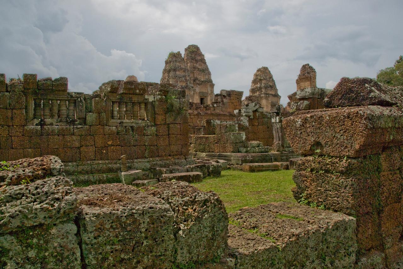 Temple walls of Angkor Wat