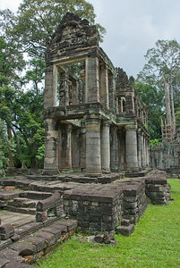 The back temple ruins of Angkor Wat in Cambodia