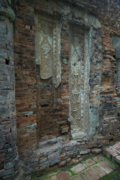 Ancient Stucco at Preah Ko Temple in Cambodia