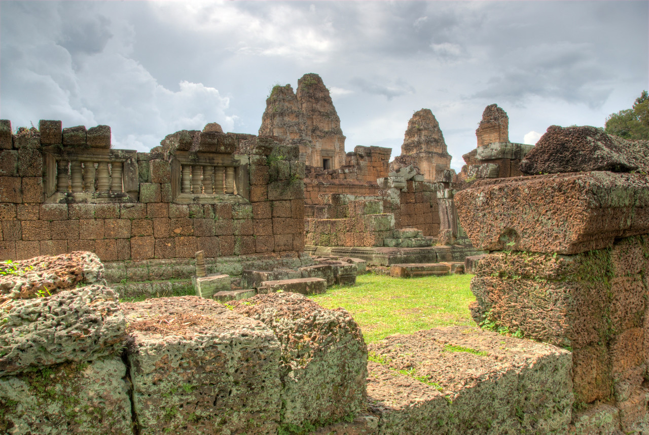 Stones and ruins at the Angkor Wat temple complex