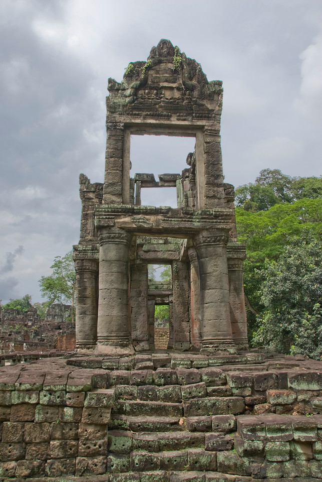 Ruins at the back of the Angkor Wat temple complex