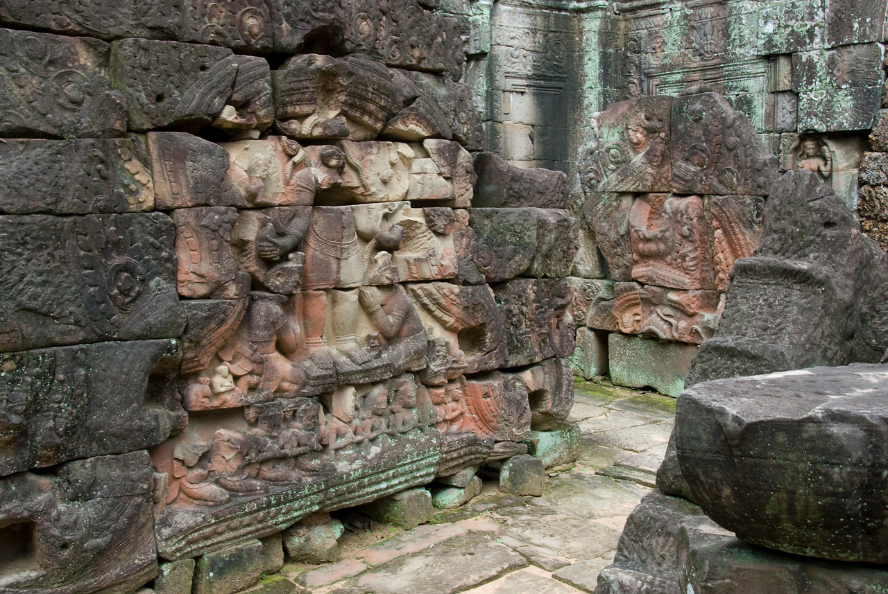 Bas Relief at Ta Som in Cambodia
