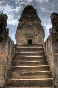 Stairs leading up to Angkor Wat Temple