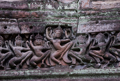 Bas Relief at the Angkor Wat ruins in Cambodia