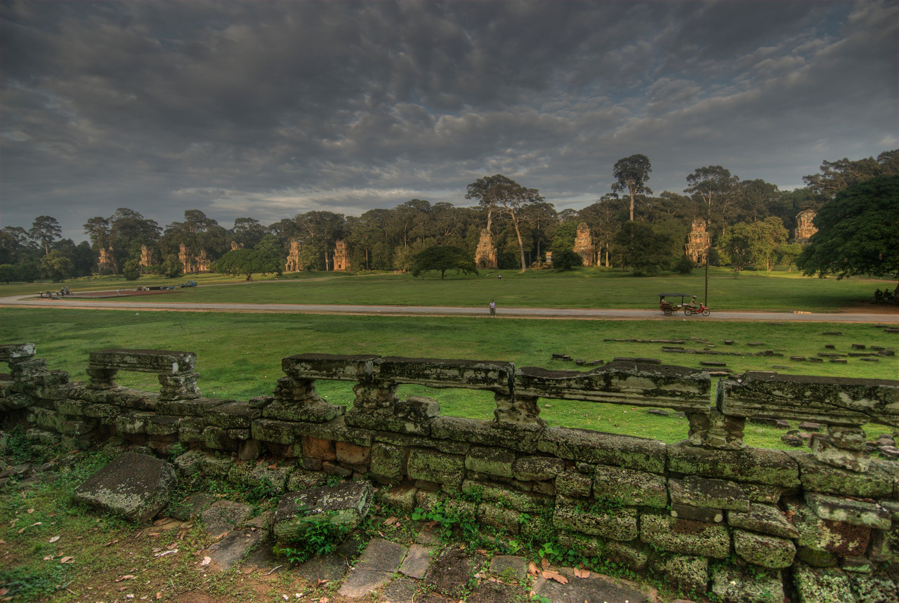 Panoramic view outside of the Angkor Wat complex