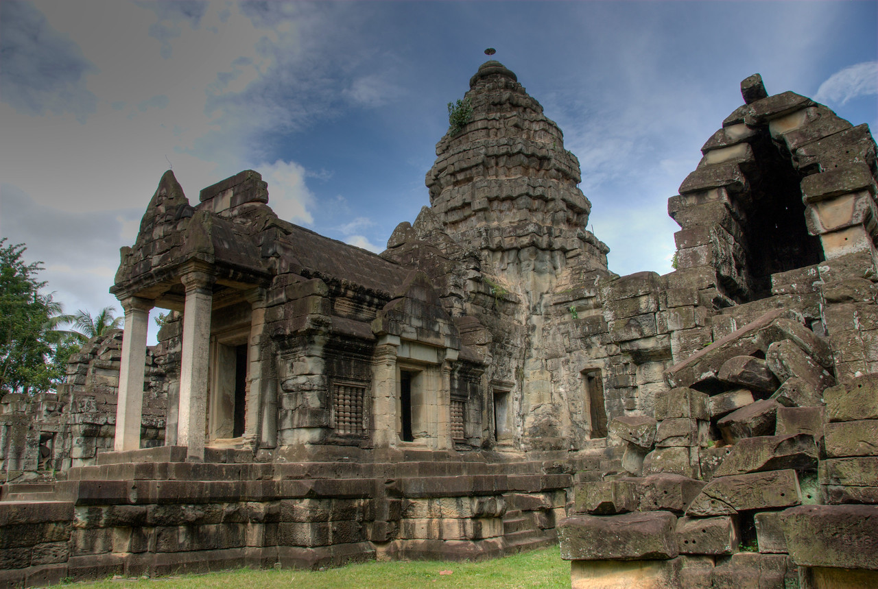 Beautiful front view of Wat Atewa in Cambodia