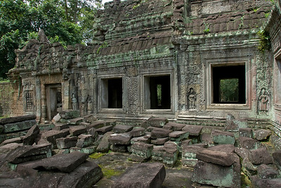 Ruins inside the Angkor Wat temple complex
