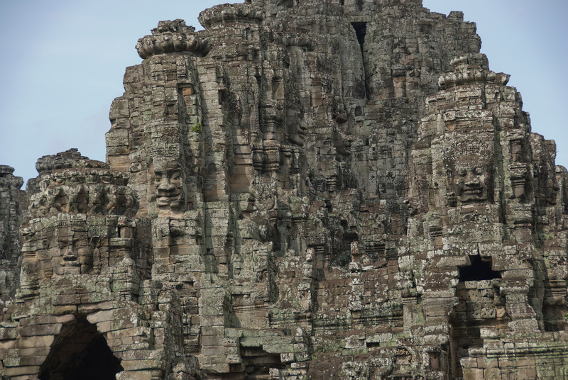 Faces carved at Bayon Temple in Siem Reap, Cambodia