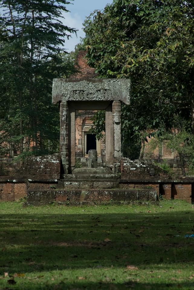 Shrine near Angkor Thom Bridge in Siem Reap, Cambodia