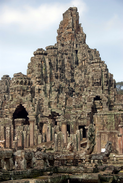 The ruins at Bayon Temple in Siem Reap, Cambodia