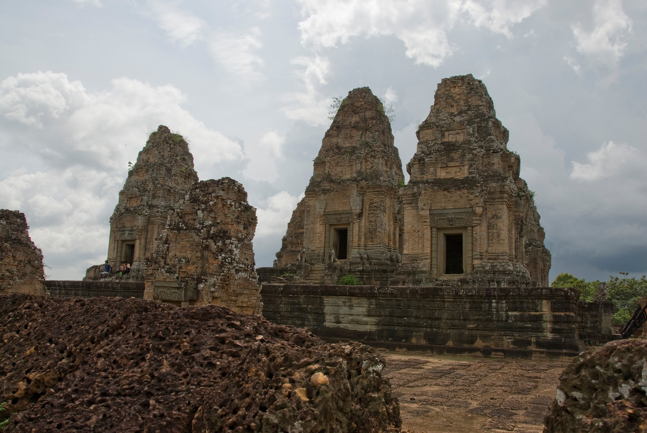 Towers at the Angkor Wat temple complex