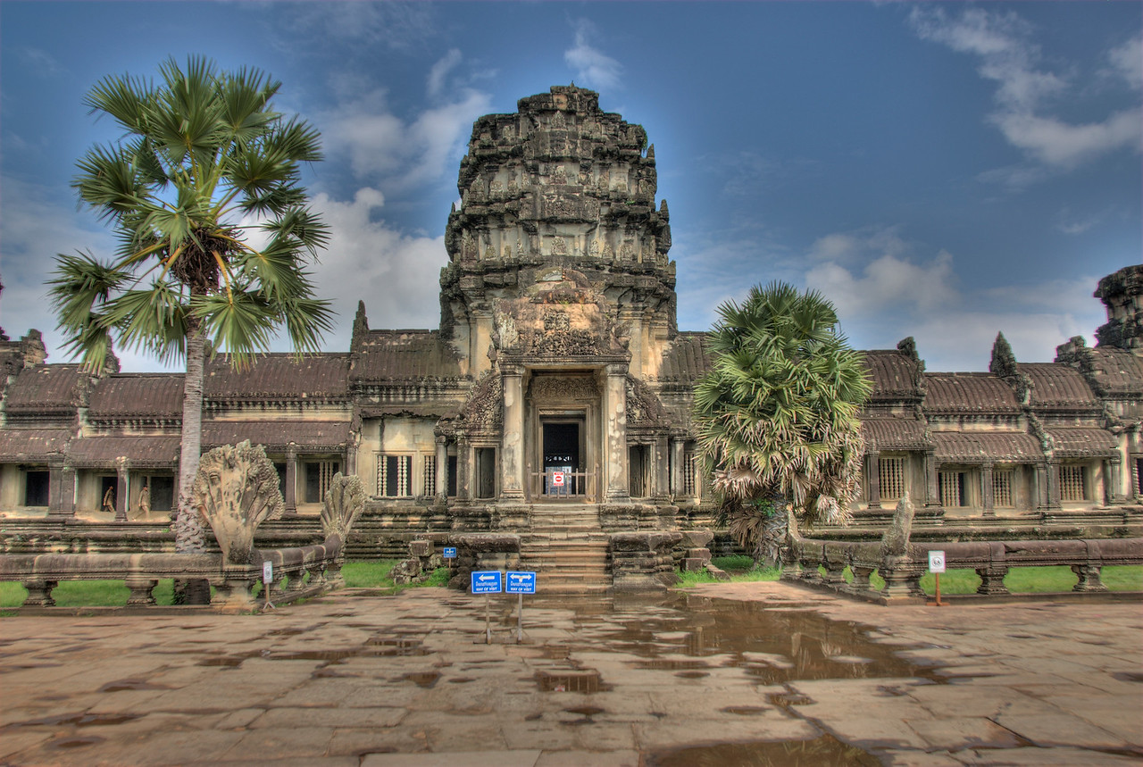 Front view of Angkor Wat in Cambodia