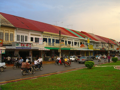 Trikes at the Downtown Area - Battambang, Cambodia
