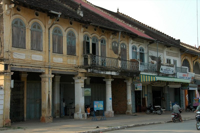 French Architecture - Battambang, Cambodia