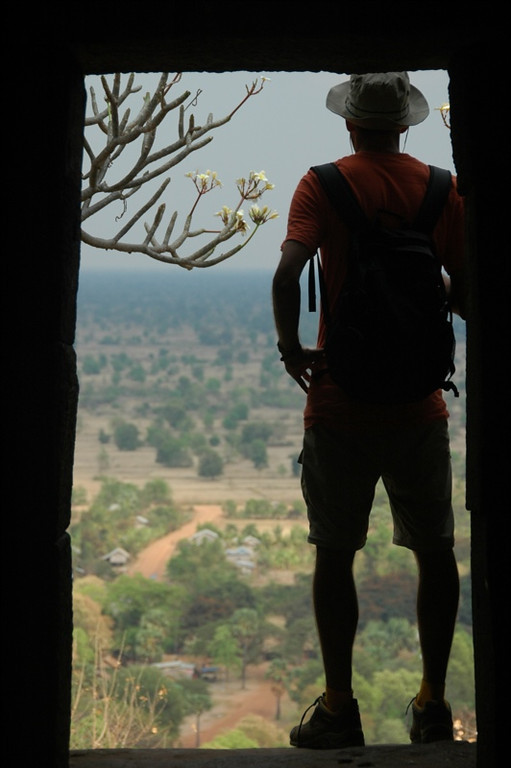 Looking Out from Wat Banan - Battambang, Cambodia