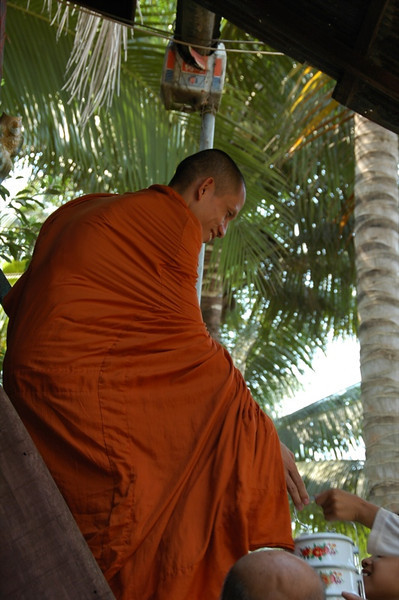 Monk at Wedding Blessing - Battambang, Cambodia