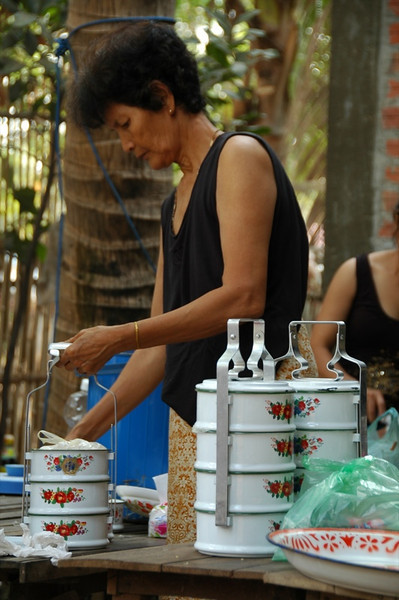 Woman Preparing Food - Battambang, Cambodia