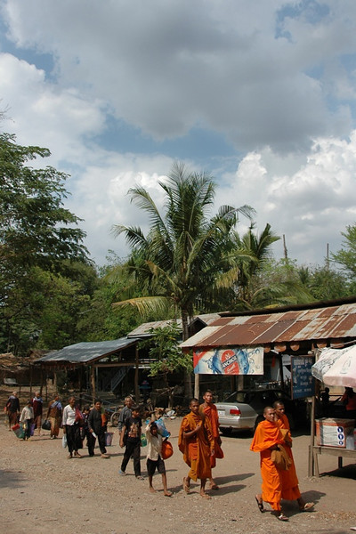 Walking Monks - Battambang, Cambodia