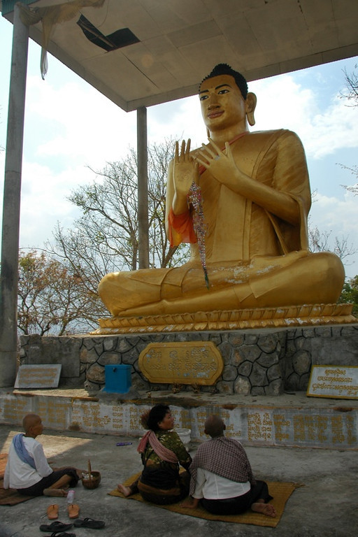 Buddhist Statue at Phnom Sampeau - Battambang, Cambodia