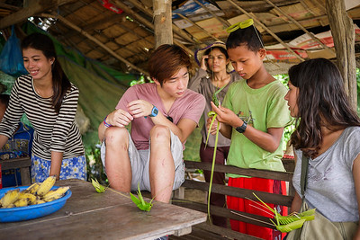 Beware of landmines sign in Battambang, Cambodia