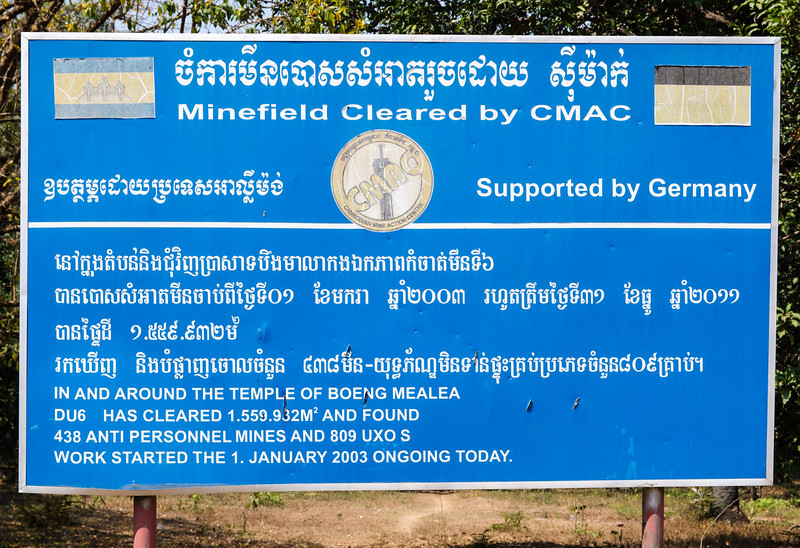 Landmines are a huge problem in Cambodia, primarily for rural people. You definately need to stay on the roads.