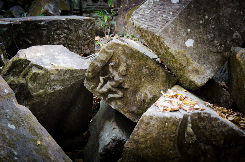 Detail on ruins.