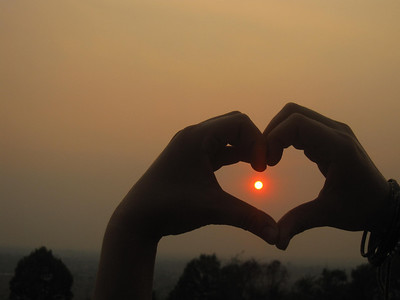 Heart Over Angkor Wat Sunset