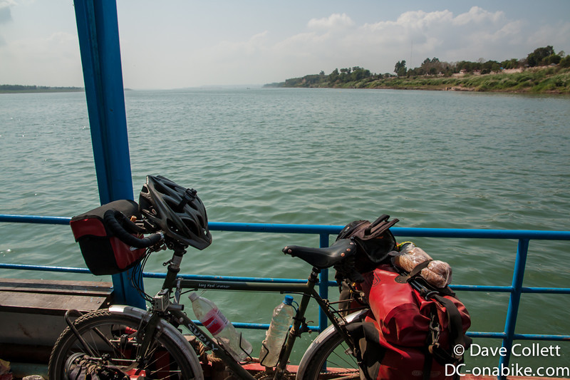 On the ferry across the Mekong