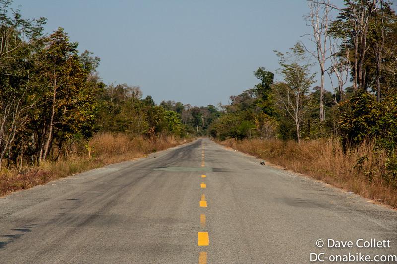 Straight, flat, hot roads..