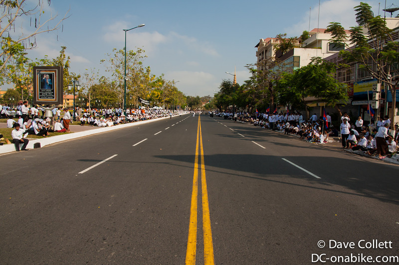Street empty for the procession
