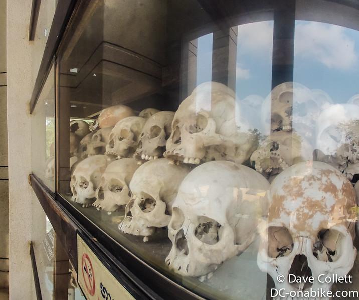 Skulls inside the stupa