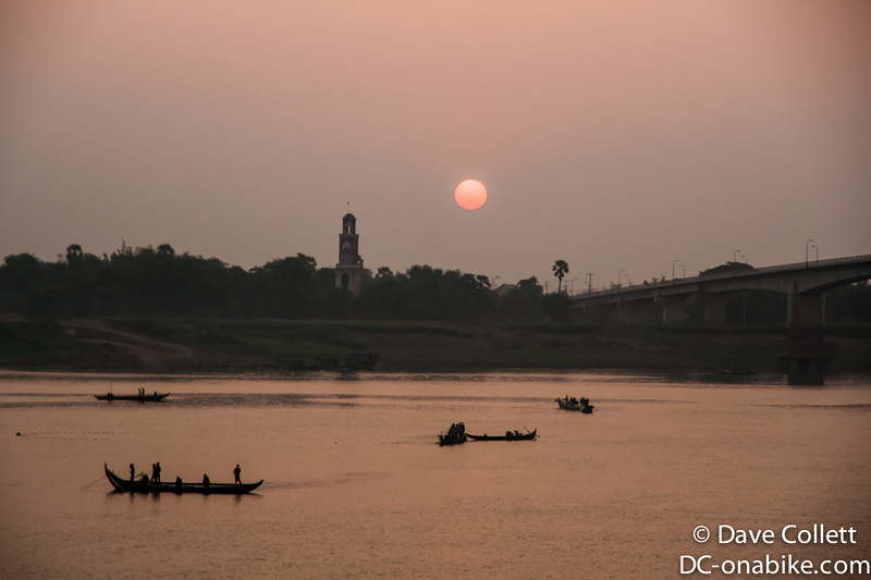 Kampong Cham waterfront at sunrise