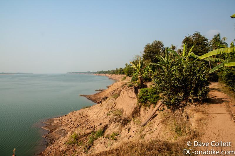 Track beside the Mekong