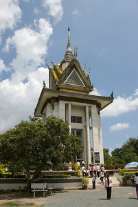 Victims Pagoda at the Killing Fields of Phnom Penh, Cambodia