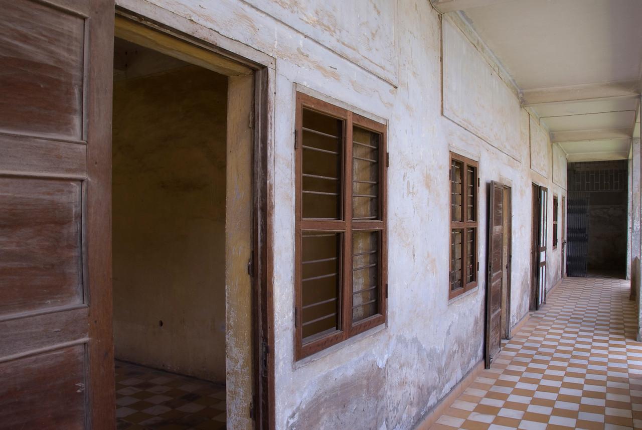 The Building A hallway in Toule Seng Prison, Phnom Penh, Cambodia