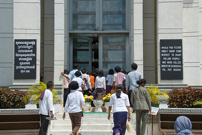 Victims Pagoda Entrance at the Killing Fields in Phnom Penh, Cambodia