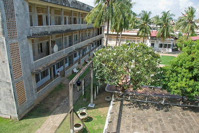 View of the Toule Seng Prison courtyard from above