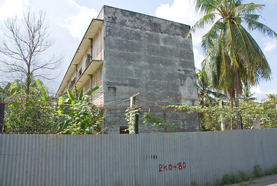 Outside view of the Toule Seng Prison in Phnom Penh, Cambodia