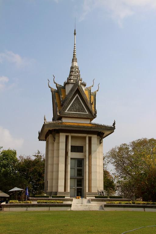 Choeung Ek Memorial stupa - Phnom Penh - Intrepid Travel Cambodia - Review: Cambodian Traveler