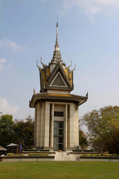 Memorial Stupa at Cambodia Killing Fields