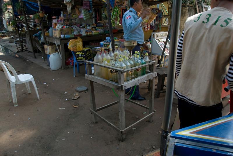 Roadside gas stand in Siem Reap, Cambodia