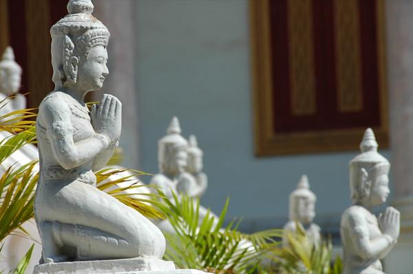 Statues at the Royal Palace - Phnom Penh, Cambodia