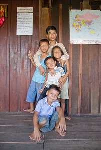 Group of children in Phnom Penh, Cambodia