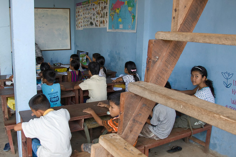 English Class in session at an orphanage in Phnom Penh, Cambodia