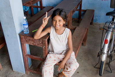 Shot of a female orphan in Phnom Penh, Cambodia