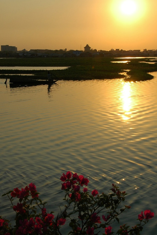 Sunset at Boeng Kak Lake - Phnom Penh, Cambodia