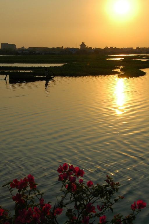 Sunset at Boeng Kak Lake - Phnom Penh, Cambodia