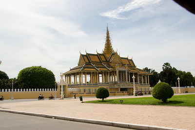 View of the Royal Palace and surrounding grounds in Phnom Penh