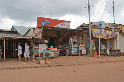 Shot of a roadside store in Phnom Penh, Cambodia